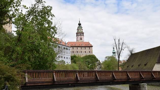 Český Krumlov bez turistů.