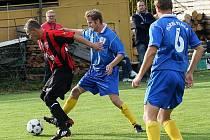 Fotbalové utkání A skupiny I. A třídy / TJ Smrčina Horní Planá - FC Šumava Frymburk 0:0.
