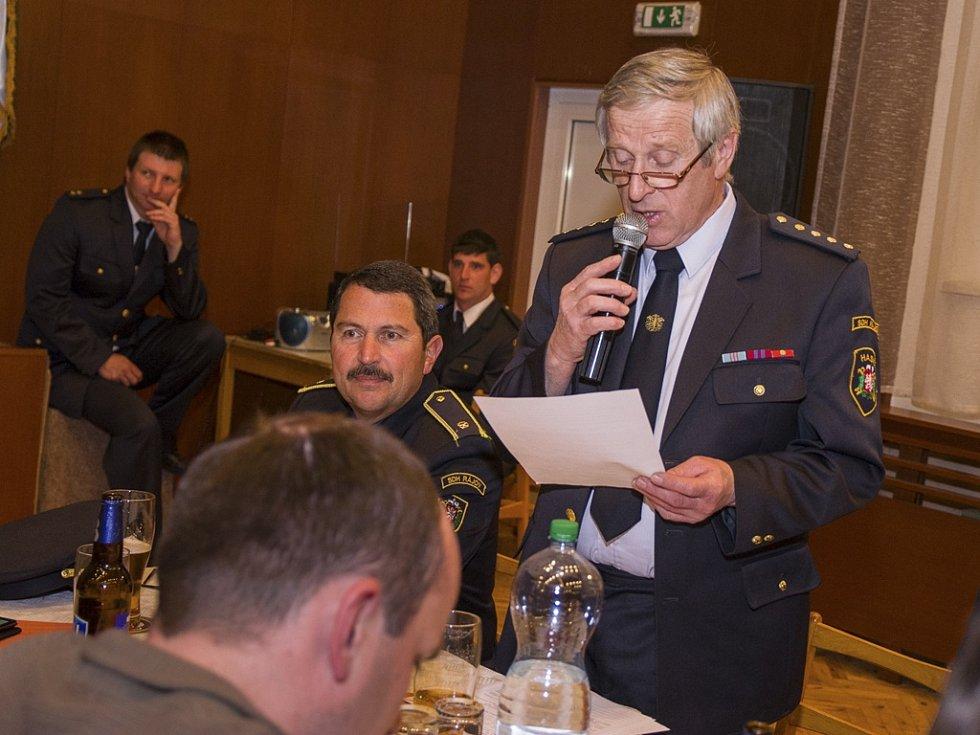 Schůze představitelů sborů dobrovolných hasičů Českokrumlovska v Malontech.