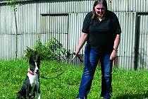 Vladimíra Garajová s půlročním psem Bartem