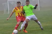 OP muži - 11. kolo: Hraničář Malonty (zelené dresy) - Sokol Chvalšiny 3:3 (2:2) na penalty 1:4.