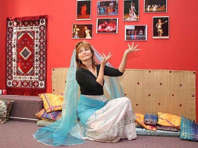 Orientální tanečnice Zuzana Kyselová.