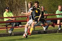 Fotbalové utkání krajského přeboru mužů / FK Spartak Kaplice - FK Vodňany 1:1 (0:1).