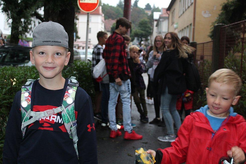 První školní den v ZŠ T. G. Masaryka v Českém Krumlově.