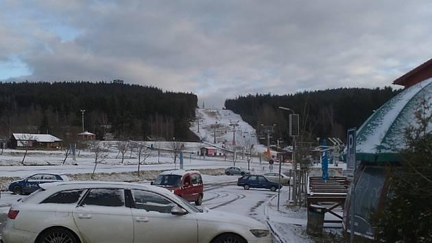 Sníh na Lipensku 30. listopadu 2019.
