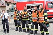Oslava výročí 110 let holubovského hasičského sboru.