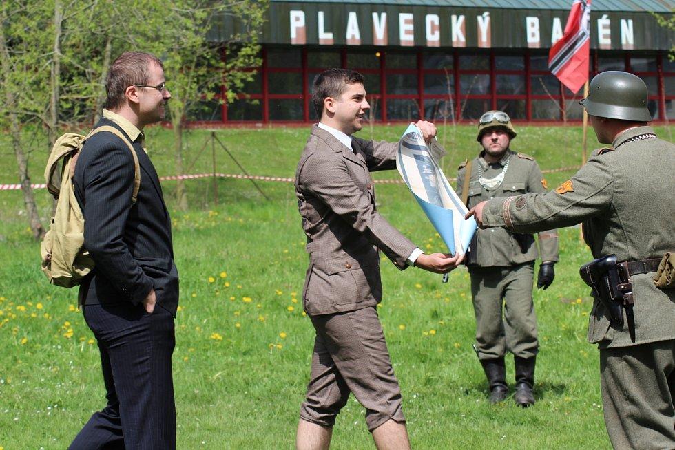 Bitva v Českém Krumlově na konci války.