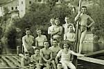 Na Den otců připravil Fotoateier Seidel pro tatínky focení v dobových plavkách a ve sportovním.