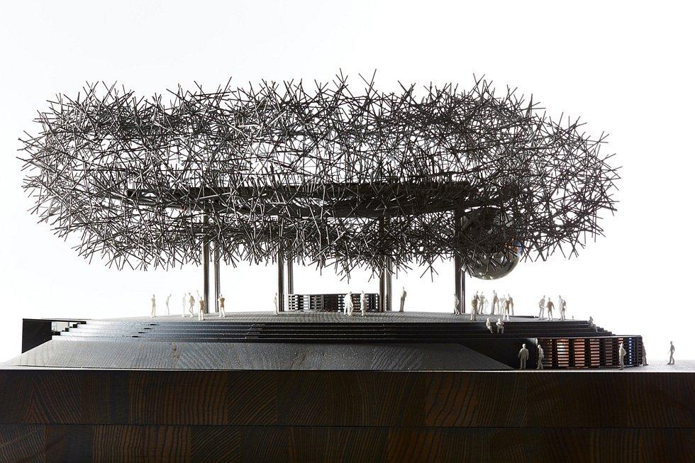 Expo Dubai, soutěžící Huť architektury Martin Rajniš / Martin Rajniš, Tomáš Kosnar, Jáchym Daniel, Mariana Hanková, David Kubík; Vítěz odborné poroty v kategorii Velké dřevěné konstrukce – návrhy.