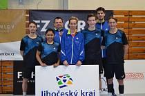 Družstvo SKB Český Krumlov (na snímku z domácí haly), které v extraligové sezoně 2018/19 obsadilo konečné páté místo.