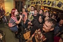 Koncert kaplické kapely Just a Báry Zemanové s její kapelou v Kaplici.