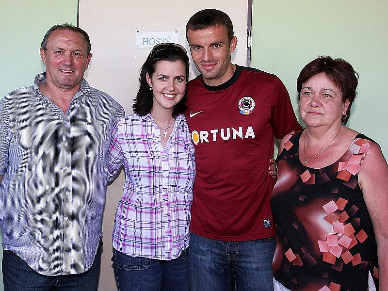 S rodiči a manželkou Lenkou.