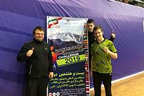 Radek Votava, Jaromír Janáček a Tomáš Švejda (zleva) na mezinárodním mistrovství Íránu.