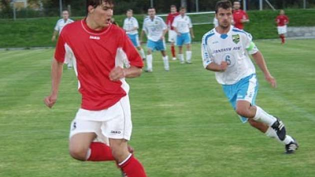 Kanonýr FC Vltava David Janků vstřelil na jaře deset branek.