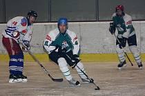 Hokejové utkání sdruženého okresního přeboru mužů / HC Aspera České Budějovice - HC Slavoj Český Krumlov B 1:5.