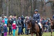 Už po desáté se konala tradiční jízda po vzoru někdejších parforsních honů v zámeckém parku.