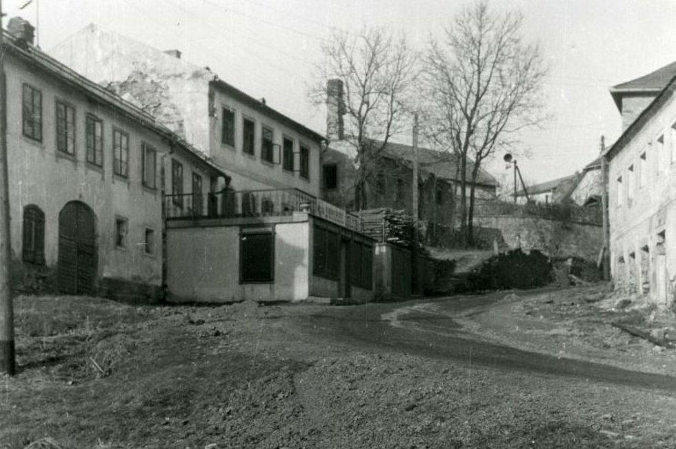 Pröllgasse ve Frymburku v roce 1956.