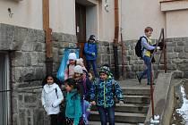 Jeden ze vchodů do Základní školy T. G. Masaryka.