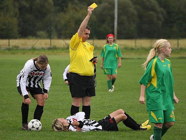 Fotbalové utkání D skupiny 3. ligy žen / FK Spartak Kaplice - TJ Blatná 7:2 (6:0).