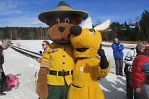 Ve Ski areálu Lipno se pořád ještě lyžuje. Foto: Vlasta Slípková