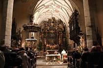 Kostel sv. Mikuláše v Rožmberku nad Vltavou.
