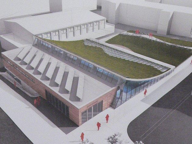 Návrh nového bazénu v Kaplici.