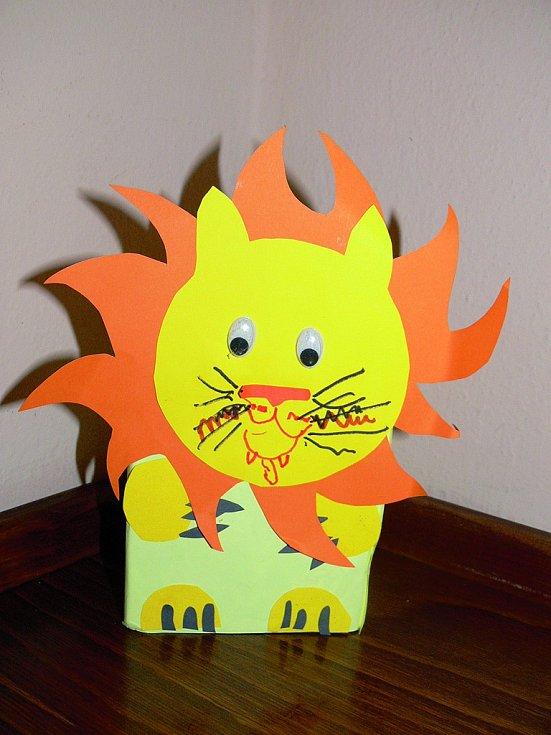 Ukázka výrobku z kreativního kurzu pro děti, který vznikl pod vedením Hany Šustrové.