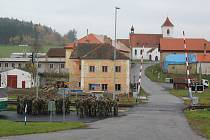 Obnovená obec Polná na Šumavě.