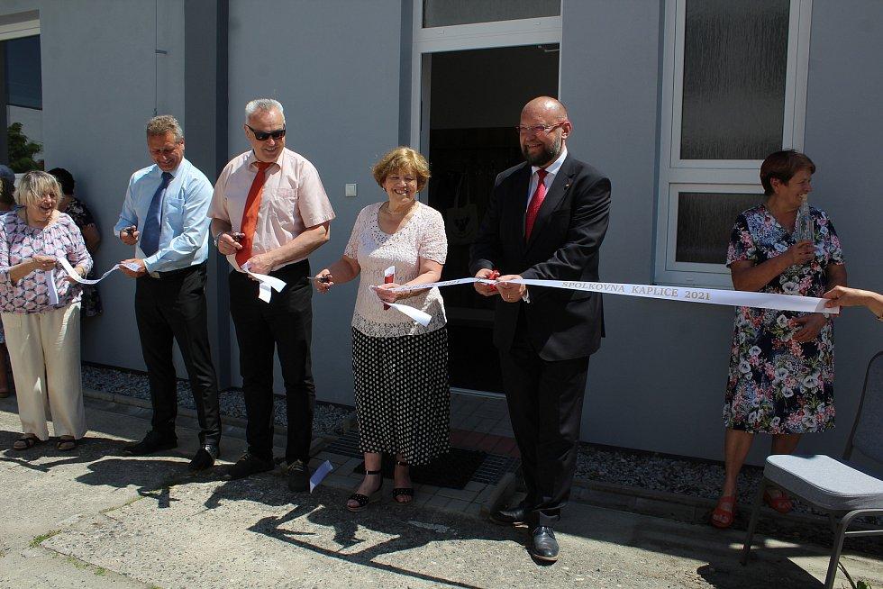 Slavnostní otevření nové Spolkovny v Kaplici.