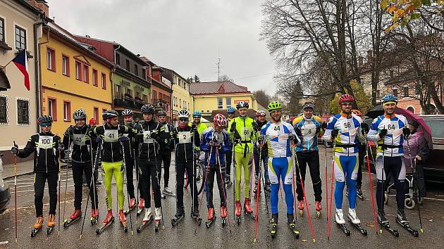 Závod na kolečkových lyžích nebo inlajnech sholemi Frymburk – Svatý Tomáš.