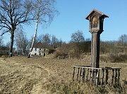 Mariánský sloup stál ještě nedávno u Křenova, ale nyní prochází rekonstrukcí.