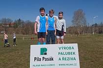 Krajský přebor v krosu v Táboře – kategorie mladší žáci (Jakub Janda na stupních vlevo).
