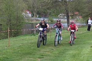 Závody v horských kolech Orelské kolečko se konaly o sváteční středě, 8. května 2019, v kempu Nové Spolí v Českém Krumlově.