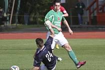 Krumlovský útočník Pavel Svoboda načal  galapředstavení ve 14. minutě, kdy obešel i chebského gólmana Martince a do prázdné dával na 1:0.