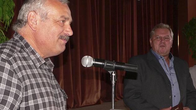 Místostarosta Mojmír Vrzal a starosta Malont Vladimír Malý.