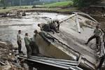 Rozvodněné toky řek způsobily obrovské škody.