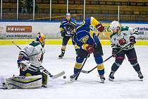 Hokejisté Krumlova uštědřili jindřichohradeckému Vajgaru desetigólový debakl.
