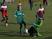 OP starší přípravky - 13. kolo: FK Slavoj Český Krumlov B (zelené dresy) - Sokol Křemže / SK Holubov B 10:3 (6:1).