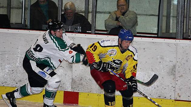Hokejové utkání krajské ligy mužů / HC Slavoj Český Krumlov - HC Velká Radouň 8:0.