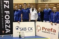 Krajským přeborníkem se stalo družstvo SKB Český Krumlov B – (zleva): Janáčková, Sluka, Prokeš, Soták, Parkos, Kempflová, Novotný a T. Milová (chybí Hnilička).