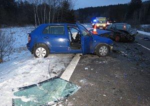 U odbočky na Šebanov se stala vážná nehoda.