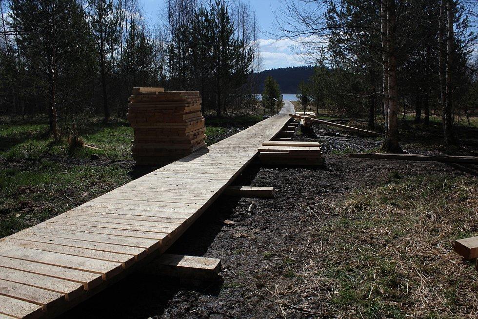 Naučná stezka kolem Olšiny nabídne po úpravách návštěvníkům lepší komfort.