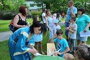 Spoustu zábavy si užily děti na svém dnu v městském parku v Kaplici.