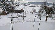 Zasněžené sobotní ráno v Brlohu.