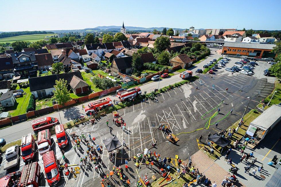 Soutěž mladých hasičů ve Velešíně.