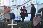 Anděl páně 1 na otáčku v Krumlově.