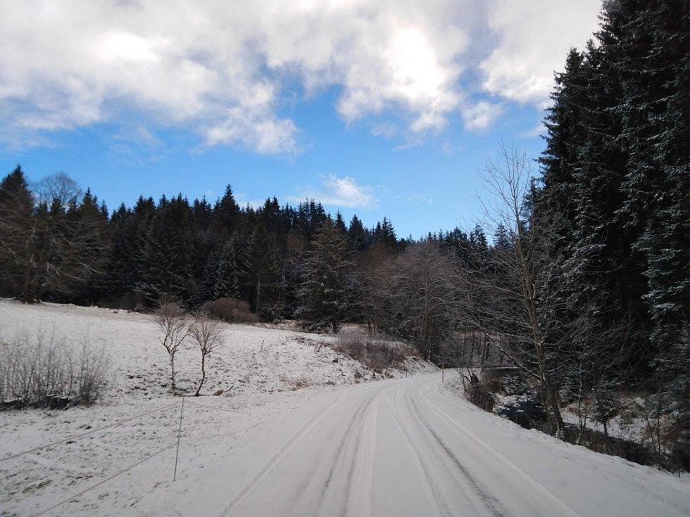Cestou na Pohoří na Šumavě.
