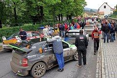 Přeskupení  v Kaplici při 43. Rallye Český Krumlov