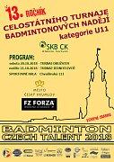 Turnaj nejmenších badmintonových nadějí se bude v Českém Krumlově hrát už potřinácté