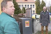 První kompostér na bioodpad v Kaplici.